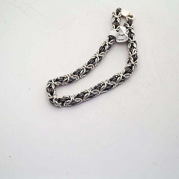 Bransoleta srebro pr925 splot królewski
