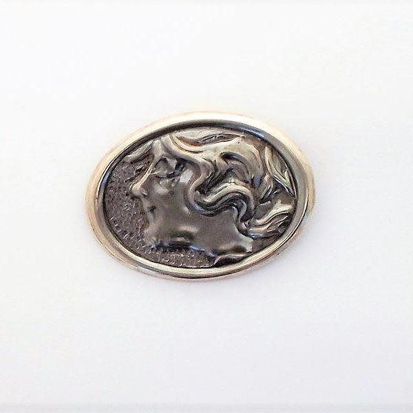 Broszka srebro
